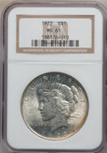 Peace Dollars: , 1922 $1 MS61 NGC. NGC Census: (494/161137). PCGS Population(566/105672). Mintage: 51,737,000. Numismedia Wsl. Price for pr...