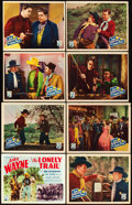 "Movie Posters:Western, The Lonely Trail (Republic, 1936). Lobby Card Set of 8 (11"" X 14"").. ... (Total: 8 Items)"