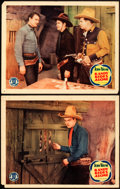 "Movie Posters:Western, Randy Rides Alone (Monogram, 1934). Lobby Cards (2) (11"" X 14"")..... (Total: 2 Items)"
