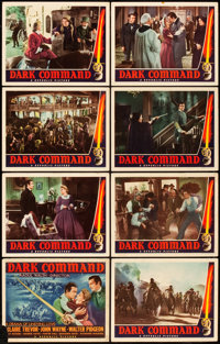 """The Dark Command (Republic, 1940). Lobby Card Set of 8 (11"""" X 14""""). ... (Total: 8 Items)"""