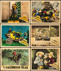 "Movie Posters:Western, Sagebrush Trail (Monogram, 1933). Title Lobby Card and Lobby Cards (5) (11"" X 14"").. ... (Total: 6 Items)"