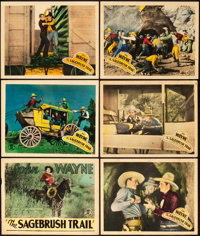 """Sagebrush Trail (Monogram, 1933). Title Lobby Card and Lobby Cards (5) (11"""" X 14""""). ... (Total: 6 Items)"""