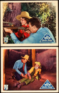 "Movie Posters:Western, Lawless Range (Republic, 1935). Lobby Cards (2) (11"" X 14""). Western.. ... (Total: 2 Items)"