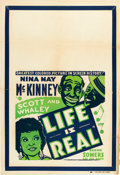"Movie Posters:Black Films, Life is Real (Universal, 1934). One Sheet (27.5"" X 41""). Alsoknown as Kentucky Minstrels.. ..."