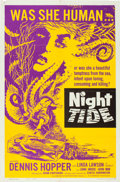 "Movie Posters:Horror, Night Tide (American International, 1963). One Sheet (27"" X 41"")Style A.. ..."