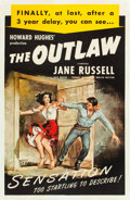 """Movie Posters:Western, The Outlaw (RKO, R-1950). One Sheet (27"""" X 41"""").. ..."""