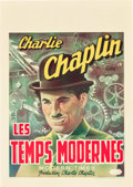 """Movie Posters:Comedy, Modern Times (United Artists, R-1946). Belgian (11.75"""" X 16.5"""").. ..."""
