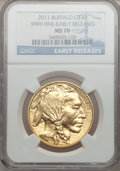 Modern Bullion Coins, 2011 $50 One-Ounce Gold Buffalo Early Releases MS70 NGC. NGCCensus: (0). PCGS Population (140). (#506883)...