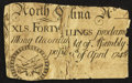 Colonial Notes:North Carolina, North Carolina April 4, 1748 40s Fair.. ...