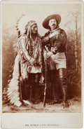 Photography:Cabinet Photos, Cabinet Photo of Buffalo Bill and Sitting Bull. ...