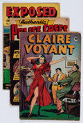 Golden Age (1938-1955):Crime, Comic Books - Assorted Golden Age Crime Comics Group (Various Publishers, 1940s) Condition: Average VG-.... (Total: 5 Comic Books)