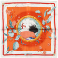 "Luxury Accessories:Accessories, Hermes Special Gift to Clients White, Gold, and Orange ""AmazonePerfume,"" by Hilton Mcconnico Silk Pochette Scarf. ..."
