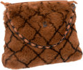 Luxury Accessories:Bags, Chanel Dark Brown Rabbit Fur Shoulder Bag with Chain Strap. ...