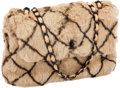 Luxury Accessories:Bags, Chanel Light Brown Rabbit Fur Shoulder Bag with Chain Strap. ...