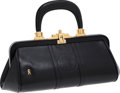 Luxury Accessories:Bags, Roberta di Camerino Black Leather Top Handle Bag. ...