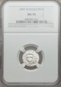 Modern Bullion Coins, 2007-W $10 Tenth-Ounce Platinum Eagle MS70 NGC. NGC Census: (370).PCGS Population (192). Numismedia Wsl. Price for proble...