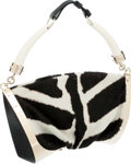Luxury Accessories:Bags, Yves Saint Laurent by Tom Ford Horn, Zebra Pony Hair and LeatherSafari Shoulder Bag. ...