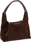 Luxury Accessories:Bags, Gucci Dark Brown Suede Hobo Bag with Leather Details. ...