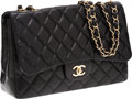 Luxury Accessories:Bags, Chanel Black Lambskin Leather Jumbo Single Flap Bag with GoldHardware. ...