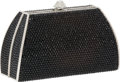 Luxury Accessories:Bags, Judith Leiber Full Bead Black Crystal Small Minaudiere Evening Bag....