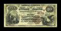 National Bank Notes:Oklahoma, Checotah, OK - $10 1882 Brown Back Fr. 492 The First NB Ch. # (W)5128. This is a state rather than a Territorial Brown B...