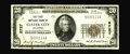 National Bank Notes:Oklahoma, Custer City, OK - $20 1929 Ty. 1 The First NB Ch. # 8727. Only five of the surviving 15 1929 examples are of this type a...
