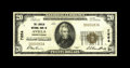 National Bank Notes:Pennsylvania, Avella, PA - $20 1929 Ty. 1 The Lincoln NB Ch. # 7854. This is avery scarce western Pennsylvania bank with just three l...