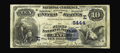 National Bank Notes:Pennsylvania, Bath, PA - $10 1882 Value Back Fr. 577 The First NB Ch. # (E)5444. Only three pre-1902 notes in the census for this ban...