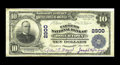 National Bank Notes:Pennsylvania, Boyertown, PA - $10 1902 Plain Back Fr. 624 The Farmers NB Ch. #2900. A handful of large size notes are known on this i...