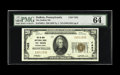 National Bank Notes:Pennsylvania, DuBois, PA - $20 1929 Ty. 1 The DuBois NB Ch. # 7453. Although 40 of the 1929 series are now documented from this Clearf...