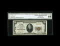 National Bank Notes:Pennsylvania, East Greenville, PA - $20 1929 Ty. 1 The Perkiomen NB Ch. # 5166.Kelly lists 23 small size examples known with this no...