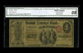 National Bank Notes:Pennsylvania, Erie, PA - $1 Original Fr. 380 The Second NB Ch. # 606. This isonly the third Ace reported on this bank. Graded CGA V...
