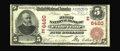 National Bank Notes:Pennsylvania, Finleyville, PA - $5 1902 Red Seal Fr. 587 The First NB Ch. # (E)6420. This note comes from a just plain rare western Pe...