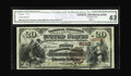 National Bank Notes:Pennsylvania, New Bloomfield, PA - $20 1882 Brown Back Fr. 504 The First NB Ch. # 5133. A Serial #1 $20 Brown Back certified as CGA ...