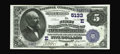 National Bank Notes:Pennsylvania, New Bloomfield, PA - $5 1882 Value Back Fr. 574 The First NB Ch. # (E)5133. Original sheen and surfaces are merits of th...