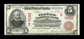 National Bank Notes:Pennsylvania, Philadelphia, PA - $5 1902 Red Seal Fr. 587 The Textile NB Ch. # (E)7522. This Red Seal has a great trade title and seri...