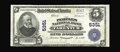 National Bank Notes:Pennsylvania, Tarentum, PA - $5 1902 Plain Back Fr. 607 The Peoples NB Ch. # 5351. A bright note with purple stamped signatures are hi...