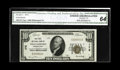 National Bank Notes:Pennsylvania, Williamsport, PA - $10 1929 Ty. 1 The First NB Ch. # 175. A Serial#1 example certified as CGA Choice Uncirculated 64,...
