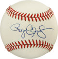 Autographs:Baseballs, Roger Clemens Single Signed Baseball. Seven time Cy Young Awardwinner, Roger Clemens adorns the sweet spot of the offered ...