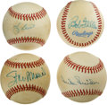 Autographs:Baseballs, Hall of Fame Single Signed Baseballs Lot of 4. A very unique lot offour single signed baseballs, all of members of basebal...