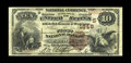 National Bank Notes:South Carolina, Spartanburg, SC - $10 1882 Brown Back Fr. 490 The First NB Ch. # (S)1848. An appealing mid-grade Brown Back with printed...