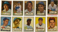 Baseball Cards:Lots, 1952 Topps Baseball Group Lot of 94. Nice group of cards from thelandmark 1952 Topps baseball issue. Highlights include #1...