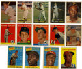Baseball Cards:Lots, 1957-1958 Topps Baseball Group Lot of 165. Nice group of earlyTopps baseball cards. Highlights include 1957 Topps #76 Robe...