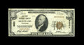 National Bank Notes:Tennessee, Huntland, TN - $10 1929 Ty. 1 The First NB Ch. # 8601. A veryscarce note from the only bank to issue in this Franklin C...