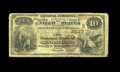 National Bank Notes:Tennessee, Knoxville, TN - $10 1882 Brown Back Fr. 483 The City NB Ch. #(S)3837. This is a scarce type for the bank, or for any T...