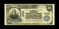 National Bank Notes:Tennessee, Shelbyville, TN - $10 1902 Plain Back Fr. 625 The Peoples NB Ch. #3530. A well centered Fine $10 Plain Back from Be...