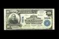 National Bank Notes:Virginia, Blackstone, VA - $10 1902 Plain Back Fr. 626 The First NB Ch. #9224. A tougher large note from the only bank in town to...