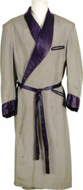Movie/TV Memorabilia:Costumes, Robe Worn by Humphrey Bogart in Warner Bros. Production. A silkdressing robe worn by Humphrey Bogart in one of his 32 films...(Total: 1 Item)