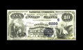 National Bank Notes:Virginia, Richmond, VA - $10 1882 Value Back Fr. 577 The American NB Ch. #(S)5229. A bit of softness is noticed on this note that...