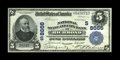 National Bank Notes:Virginia, Richmond, VA - $5 1902 Plain Back Fr. 601 National State & CityBank Ch. # (S)8666. This note bears the second title. Co...